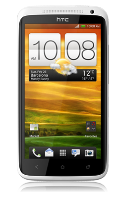 HTC One X voorkant