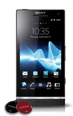 Sony Xperia S voorkant