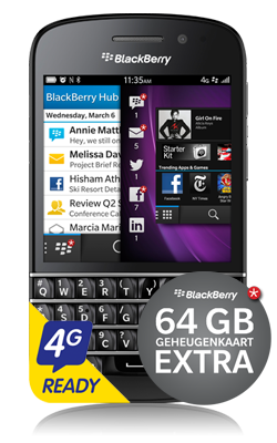 BlackBerry Q10 voorkant