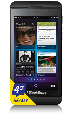 BlackBerry Z10 voorkant